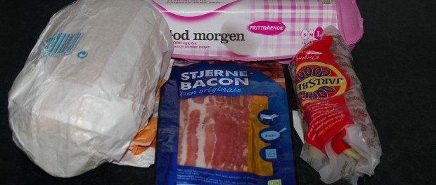 Ingredienser baconmuffin Foto: Karl inge S