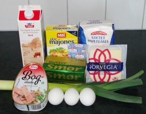 smørbrødkake ingredienser