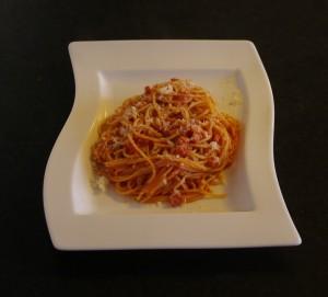 Spaghetti amatriciana Foto:Karl Inge S
