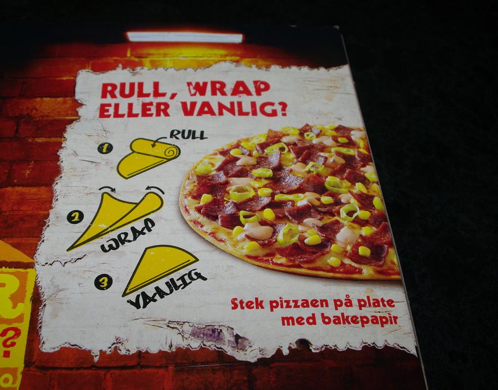 Pizzaeske med bruksanvisning... Foto:Karl Inge S